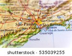 geographic map of brazil with... | Shutterstock . vector #535039255