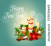 happy new year poster with... | Shutterstock . vector #535039645