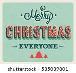 merry christmas greeting card.... | Shutterstock .eps vector #535039801