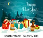new year gift boxes greeting... | Shutterstock . vector #535047181