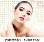 young female with clean fresh... | Shutterstock . vector #535055929