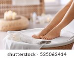 female feet in spa salon ... | Shutterstock . vector #535063414