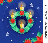 flat illustration of an advent... | Shutterstock .eps vector #535063615
