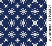 christmas snowflakes seamless... | Shutterstock .eps vector #535066807