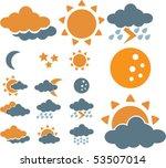 weather signs. vector   Shutterstock .eps vector #53507014