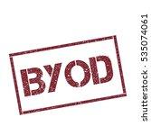 byod rectangular stamp.... | Shutterstock .eps vector #535074061