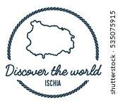 ischia map outline. vintage...   Shutterstock .eps vector #535075915