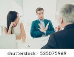 no. young businessman don't... | Shutterstock . vector #535075969