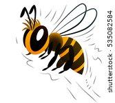 Bee. Cartoon Character. White...