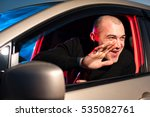 male drunk driver sitting in... | Shutterstock . vector #535082761