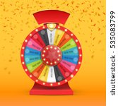 colorful wheel of luck or... | Shutterstock .eps vector #535083799