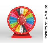 colorful wheel of luck or... | Shutterstock .eps vector #535083805