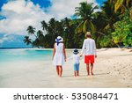 family with child walking on... | Shutterstock . vector #535084471