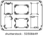 set of frames   Shutterstock .eps vector #53508649
