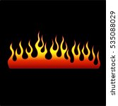 flame tattoo tribal vector... | Shutterstock .eps vector #535088029