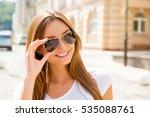 portrait of beautiful smiling... | Shutterstock . vector #535088761