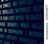 text on a wall | Shutterstock . vector #535092877
