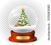 realistic new year chrismas ... | Shutterstock .eps vector #535093585