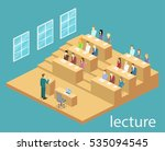 isometric flat 3d concept... | Shutterstock .eps vector #535094545
