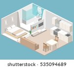 isometric flat 3d concept... | Shutterstock .eps vector #535094689