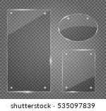 glass plates set. vector... | Shutterstock .eps vector #535097839