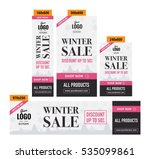 winter sale advertising banners ... | Shutterstock .eps vector #535099861