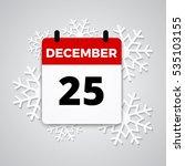 25 december   cute calendar... | Shutterstock .eps vector #535103155