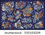 colorful vector hand drawn... | Shutterstock .eps vector #535103209