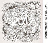 cartoon cute doodles hand drawn ... | Shutterstock .eps vector #535103224