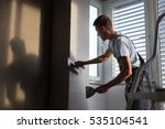 construction worker wearing... | Shutterstock . vector #535104541