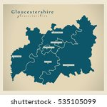 modern map   gloucestershire... | Shutterstock .eps vector #535105099