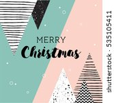 christmas card. abstract... | Shutterstock .eps vector #535105411