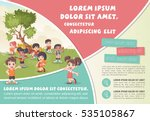 template for advertising... | Shutterstock .eps vector #535105867