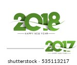 happy new year 2018   2017 text ... | Shutterstock .eps vector #535113217