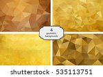 Set Of 4 Polygonal Backgrounds...