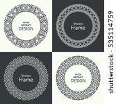 set of monogram line vintage...   Shutterstock .eps vector #535114759