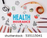 health insurance concept.... | Shutterstock . vector #535115041