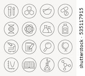 science thin line icon set | Shutterstock .eps vector #535117915