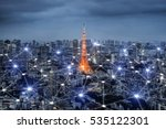 smart city scape and network... | Shutterstock . vector #535122301
