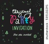 vector christmas party... | Shutterstock .eps vector #535132291
