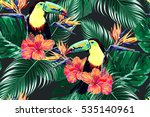 seamless vector floral pattern... | Shutterstock .eps vector #535140961