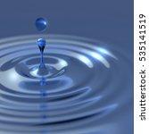 water drop splash with shallow... | Shutterstock . vector #535141519