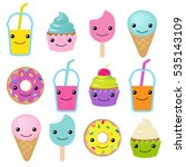 collection of sweets emotion | Shutterstock .eps vector #535143109