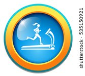 treadmill icon | Shutterstock .eps vector #535150921