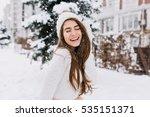 happy winter moments of joyful... | Shutterstock . vector #535151371