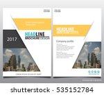 abstract vector modern flyers... | Shutterstock .eps vector #535152784