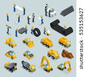 set isometric 3d icons for... | Shutterstock .eps vector #535153627