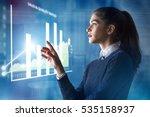 modern business woman using... | Shutterstock . vector #535158937
