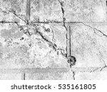 crack floor concrete texture... | Shutterstock . vector #535161805