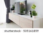 tv shelf. showcase | Shutterstock . vector #535161859